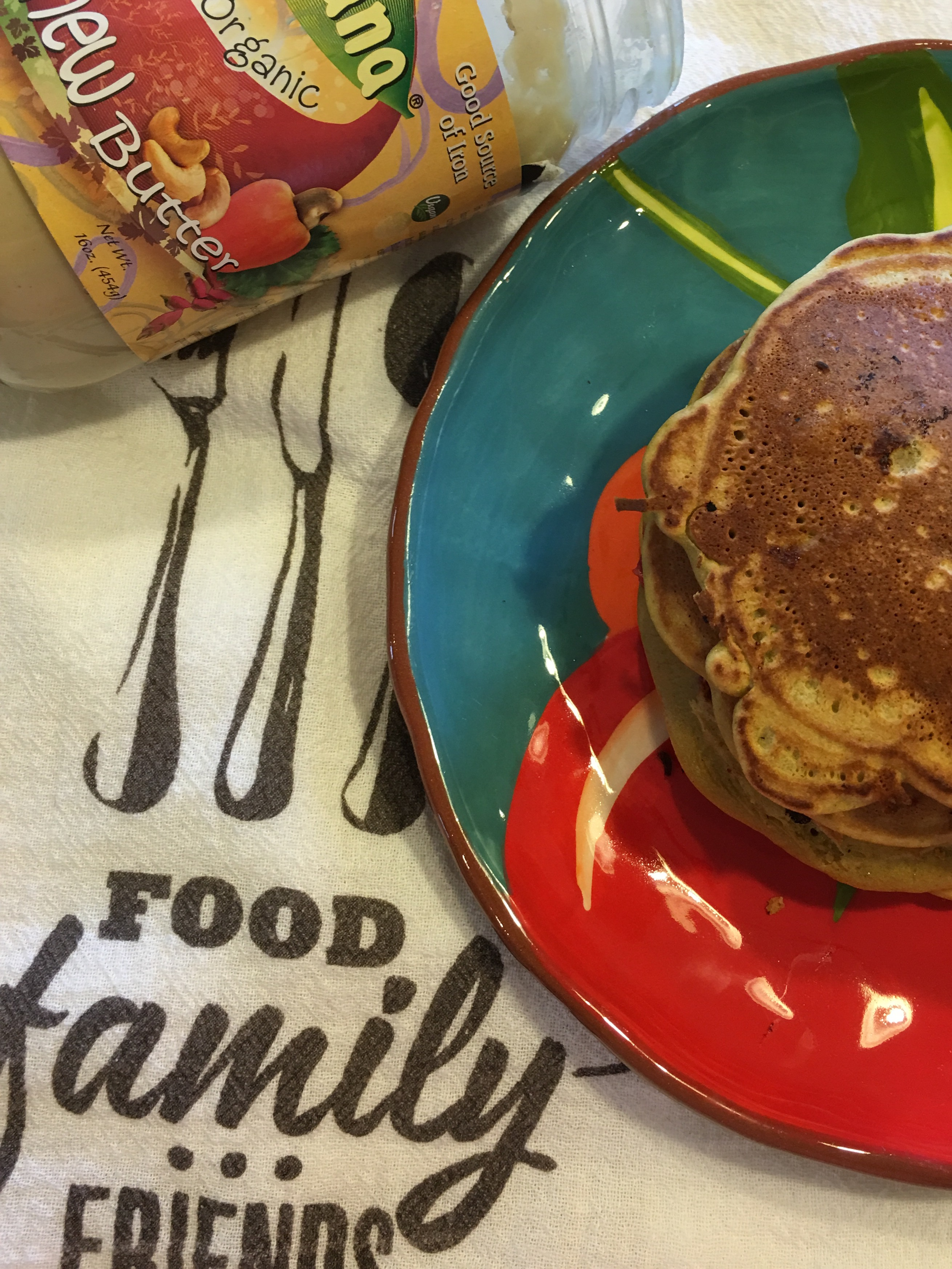 Oat-Goodness Pancakes with Cashew Butter