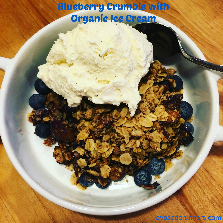 Blueberry Crumle with Organic IceCream